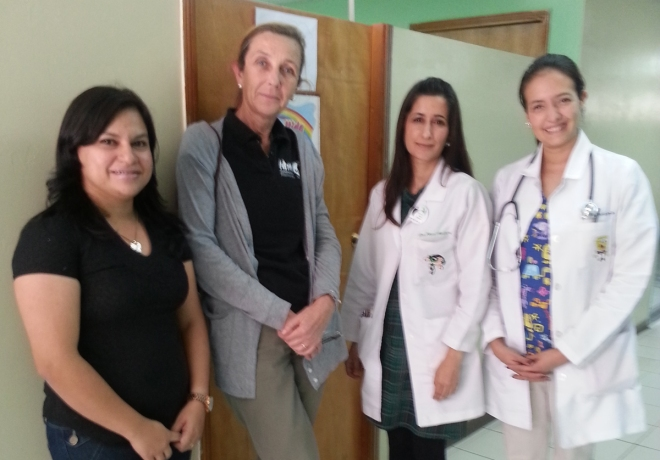 Dr. Pilar Silverman, second from left, with colleagues.