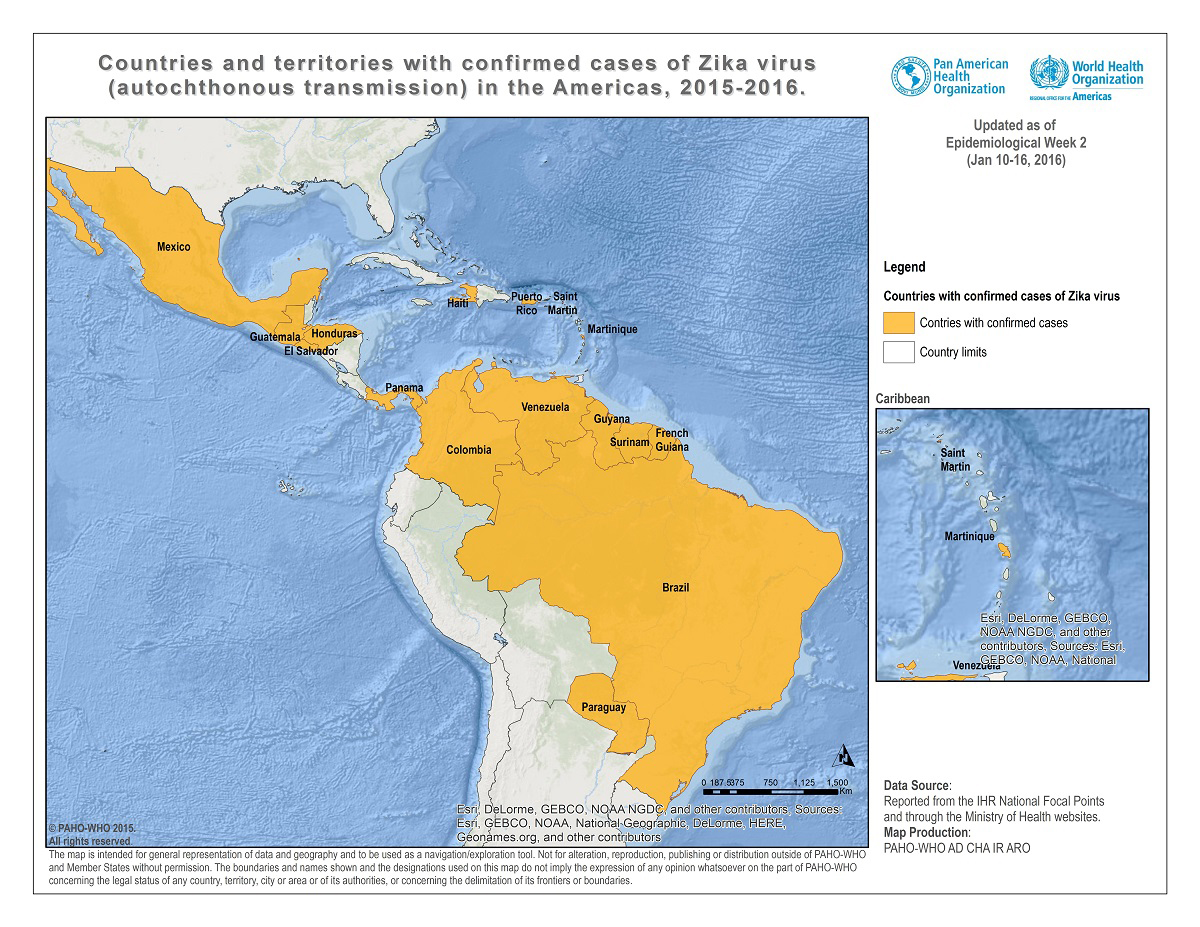 Carte Cuba Bresil.Cdc Has Issued A Travel Alert For Zika Virus Outbreak In